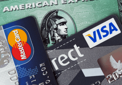 american express visa and master cards