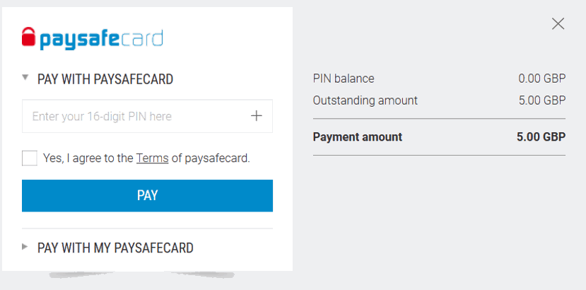 paysafecard deposit to betting site example
