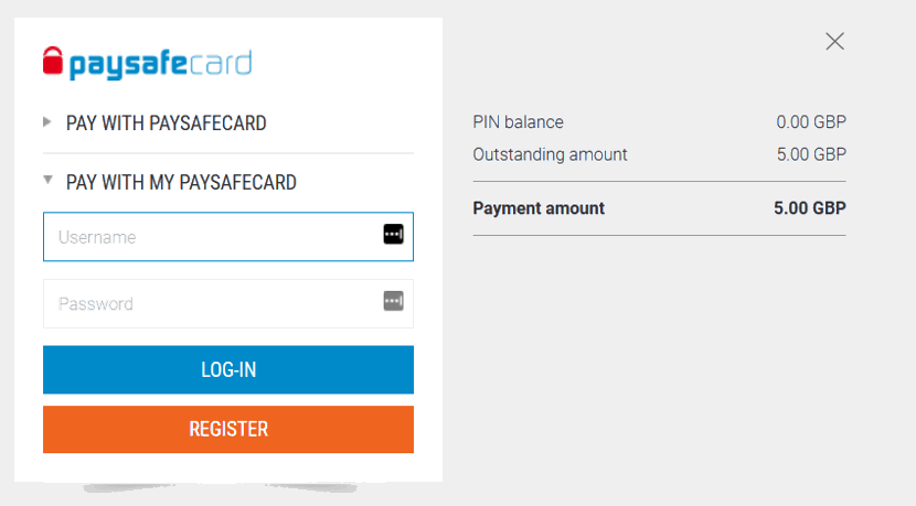 My Paysafecard Account