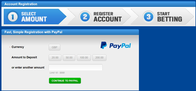paypal quick registration example