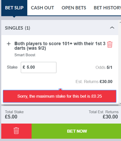 limitted bet example