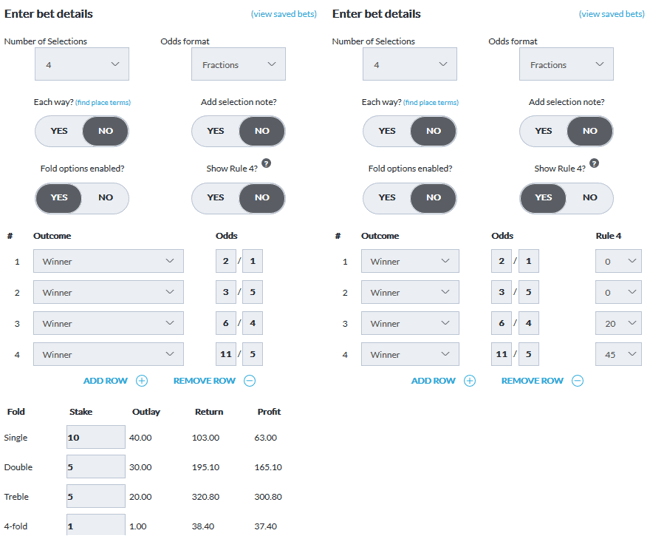 BetVictor Bet Calculator Example