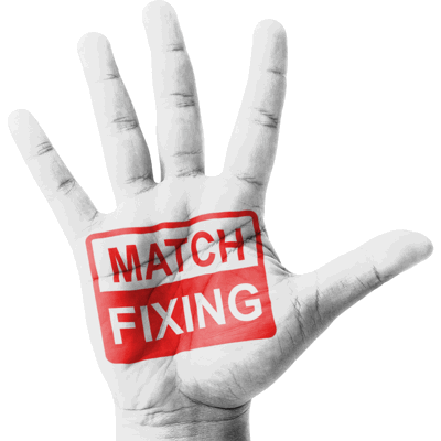 match fixing stamp on a hand