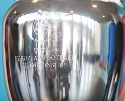 european football championship engraving on trophy