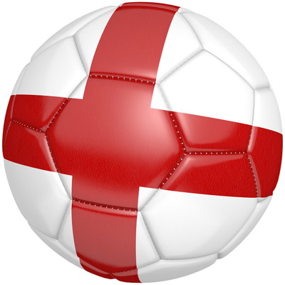 football with england flag