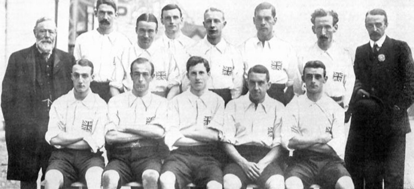 great britain olympic gold medal winning football team in 1908