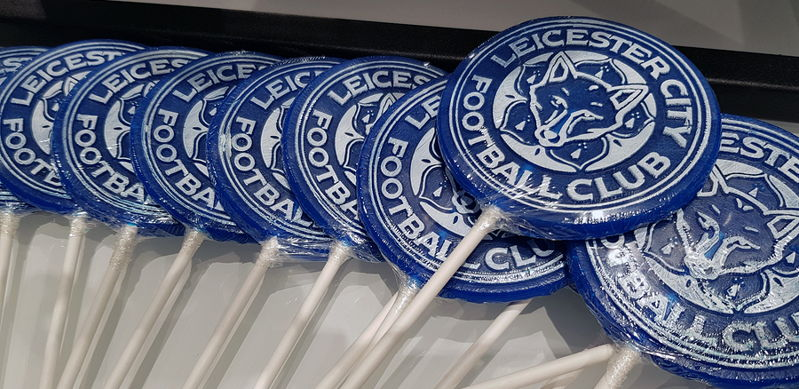 leicester city lolipops