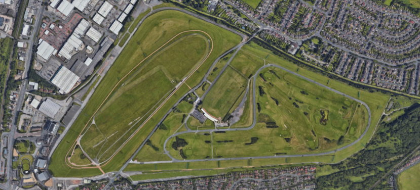 aintree racourse aerial view