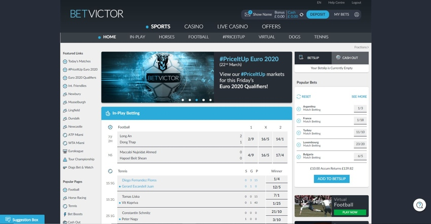 betvictor homepage 850px