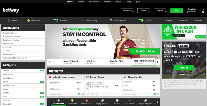 betway homepage 850px