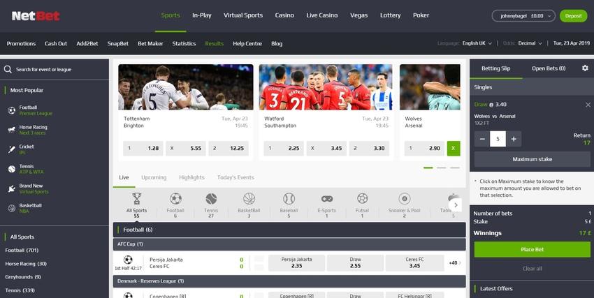 NetBet - Online Betting Sites - Online Betting UK