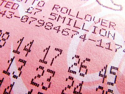 lottery ticket close up