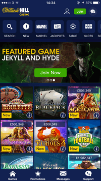 william hill online slots mobile online casino