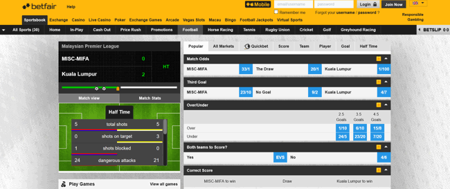 online betfair cricket