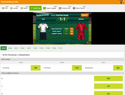 virtual football match betting console