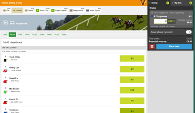 virtual horse race how to bet